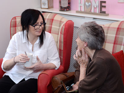 Carer and Resident Chatting